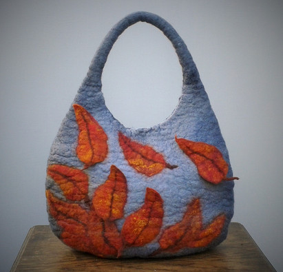 Felt Autumn Leaf Bag.