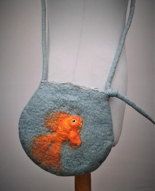 Felt Goldfish Bag.