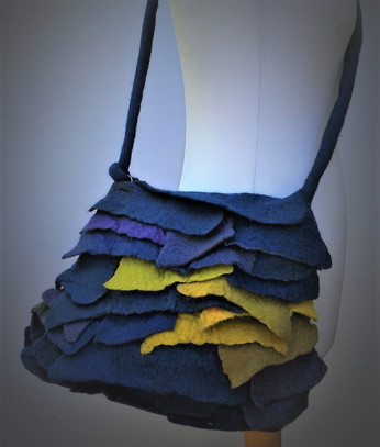 Blue Felt Scales Bag.