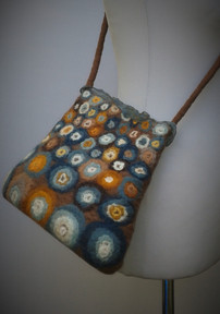 Duck Egg and Tan Bubbes Bag.