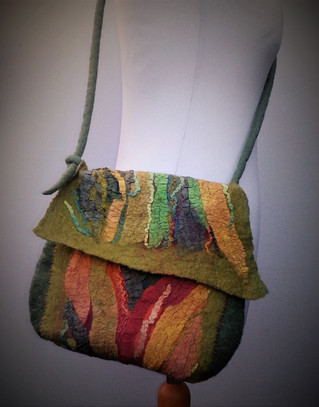 Green Nuno Felt Bag.