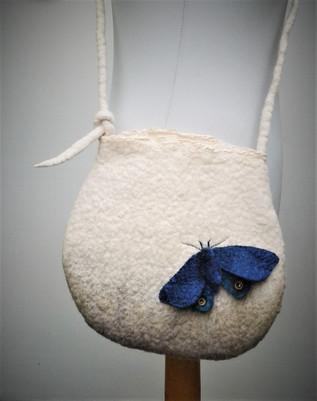 Blue Felt Moth Bag.