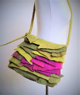Green Felt Scales Bag.