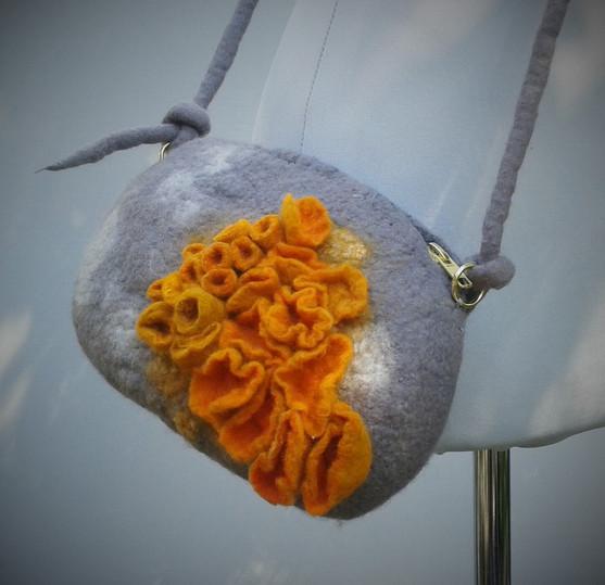 Felt Stone and Fungus Bag.