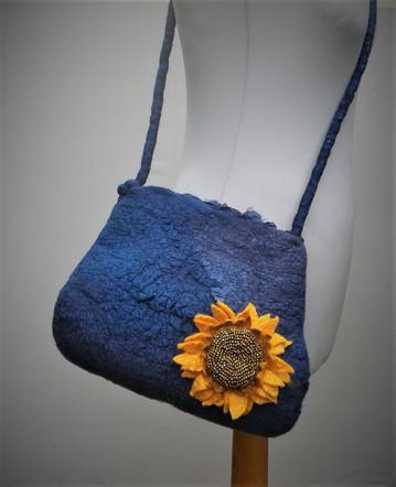 Nuno Felt Sunflower Bag.