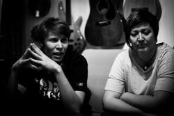 Los Fabulosos in the studio