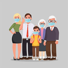 family-wearing-protective-medical-masks-