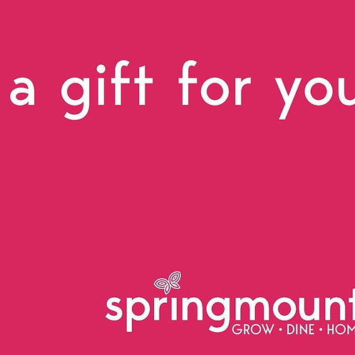 €50 Springmount Gift Card