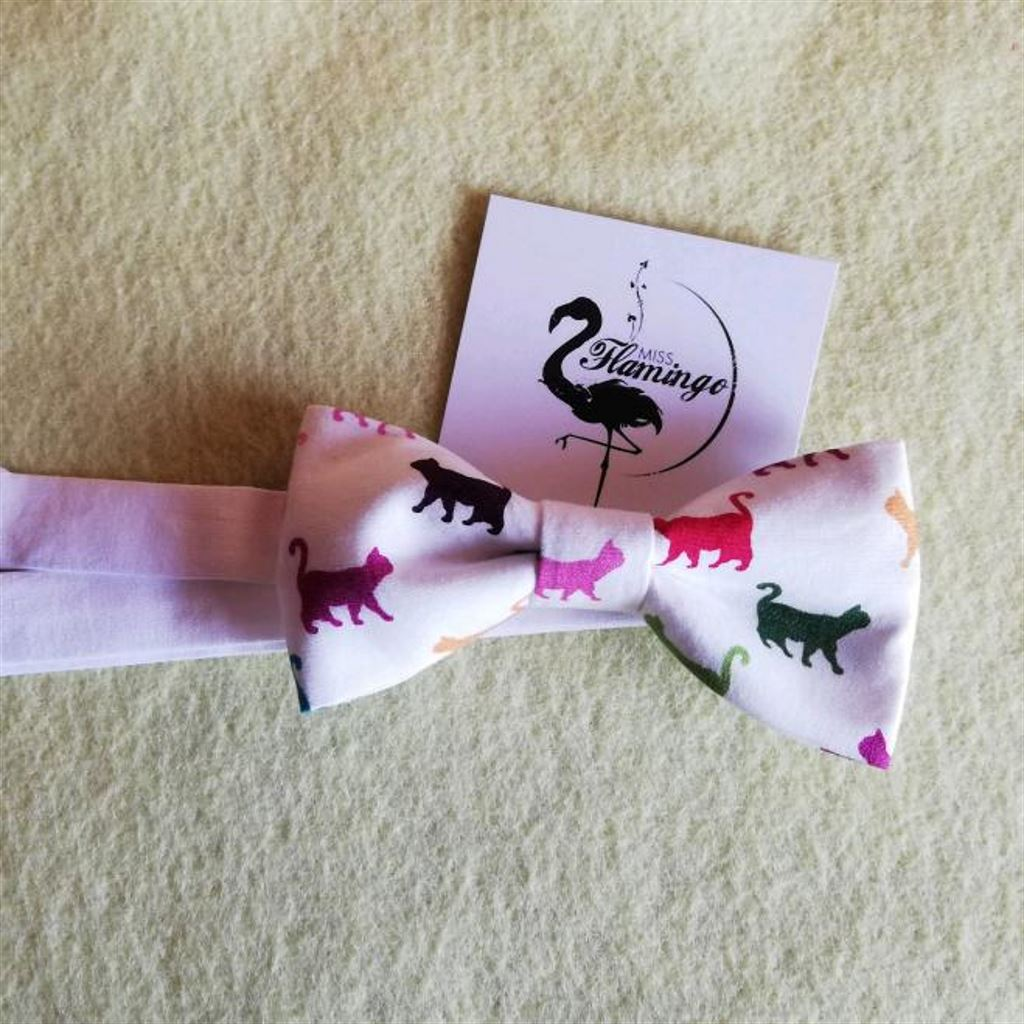 Papillon handmade stampa gatti
