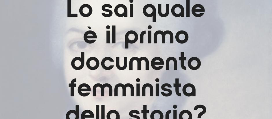 Lo sai quale è il primo documento femminista della storia?