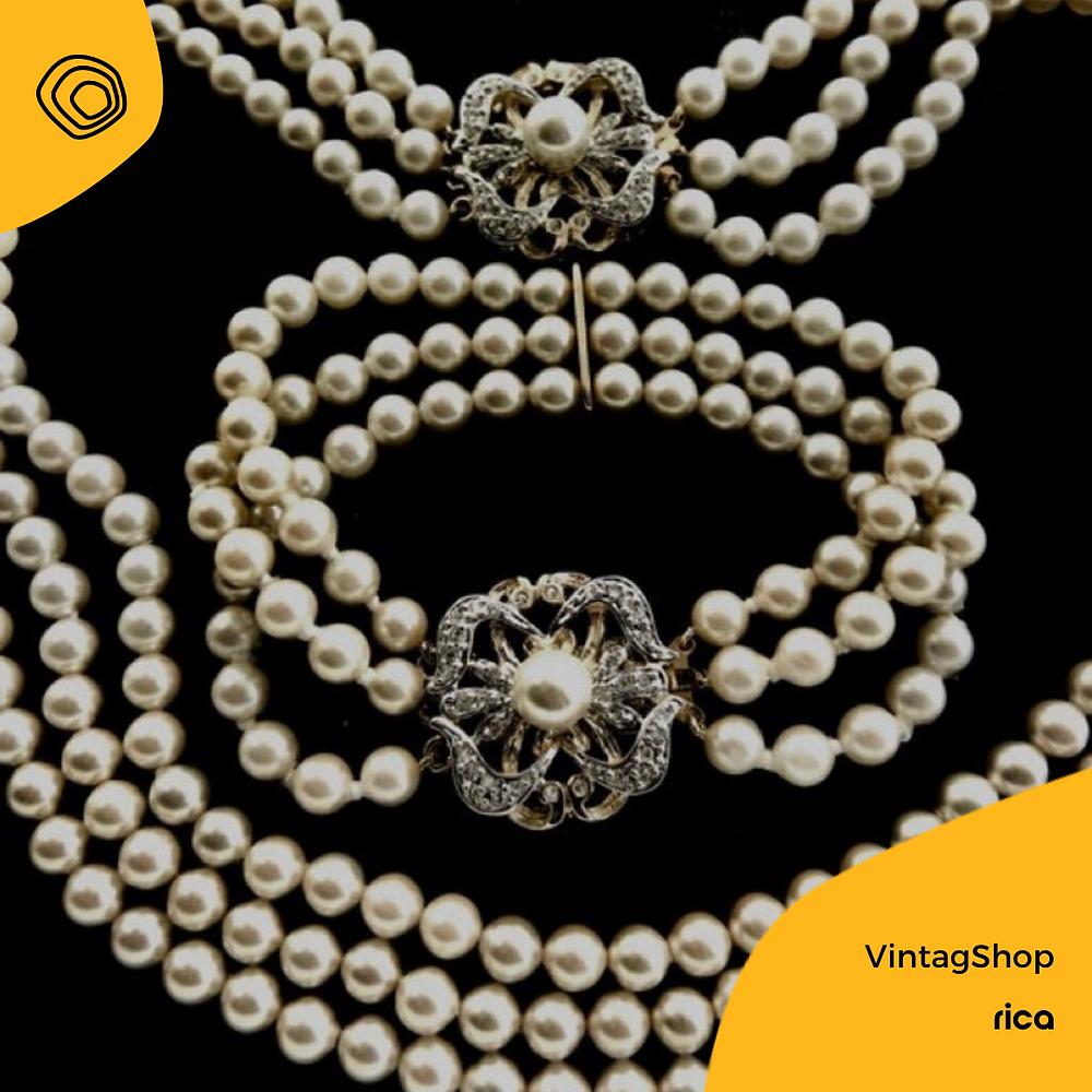 perle, anni 70, vintage
