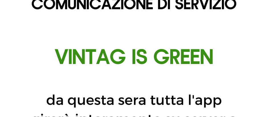 VINTAG IS GREEN!