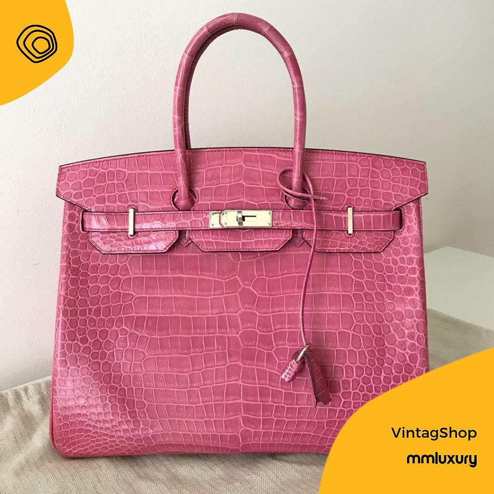 hermes birkin borsa bag rosa vintag