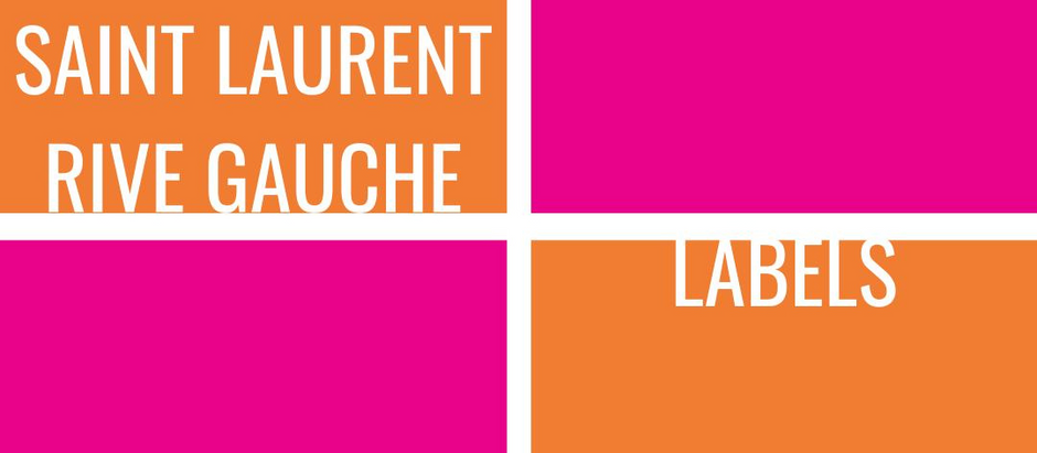 Vintage Labels: Saint Laurent Rive Gauche
