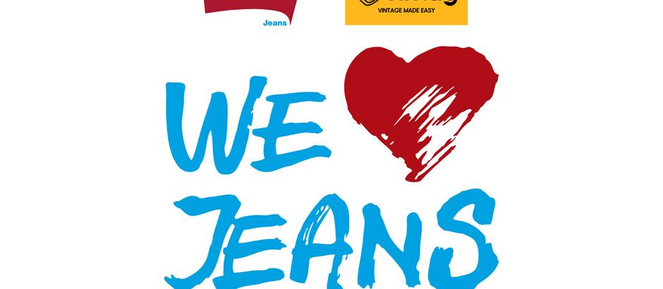 Vintag e Carrera Jeans assieme per un progetto di economia circolare