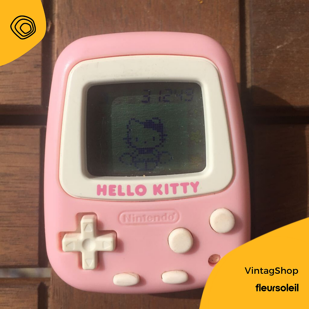 hello kitty, tamagotchi, nintendo