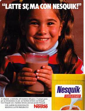 nesquik, pubblicità vintage