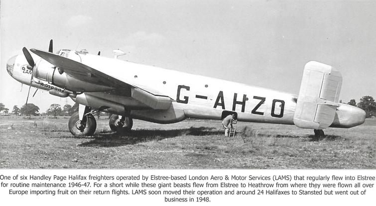 Handley Page Halifax Bomber Elstree