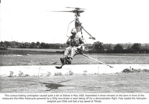 Elstree Hiller Rotorcycle Helicopter