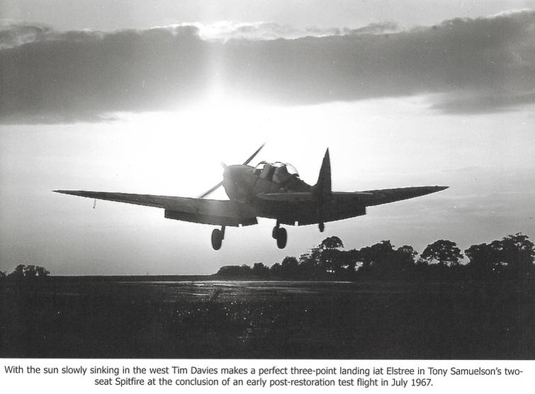 Elstree Sunset Spitfire Landing