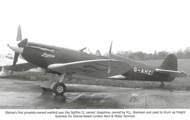 Privately Owned Spitfire at Elstree