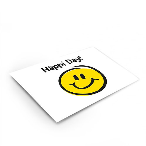 Postkarte «Häppi Day!»
