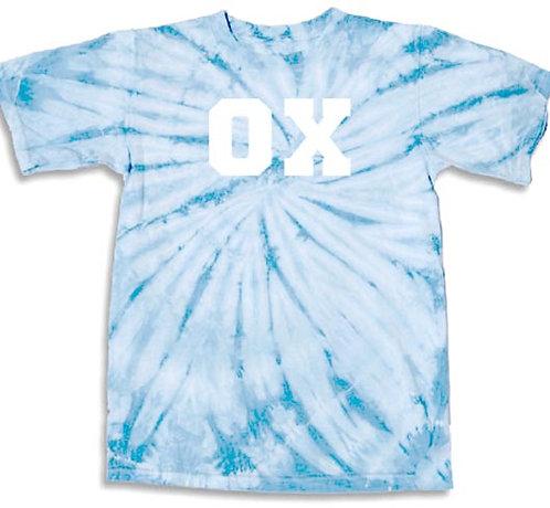 CUSTOM TIE-DYE OX SHIRT - SKY BLUE