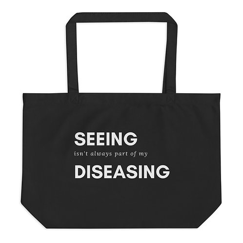 Diseasing Large organic tote bag
