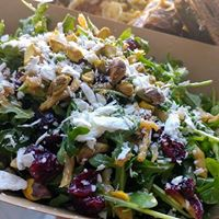 Arugula Salad with craisin, pistachio, goat cheese