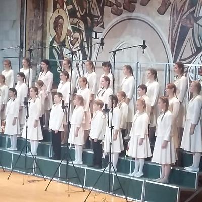 """Концертный хор """"Маленькие мастера"""" на Гала - концерте в Зале церковных соборов"""