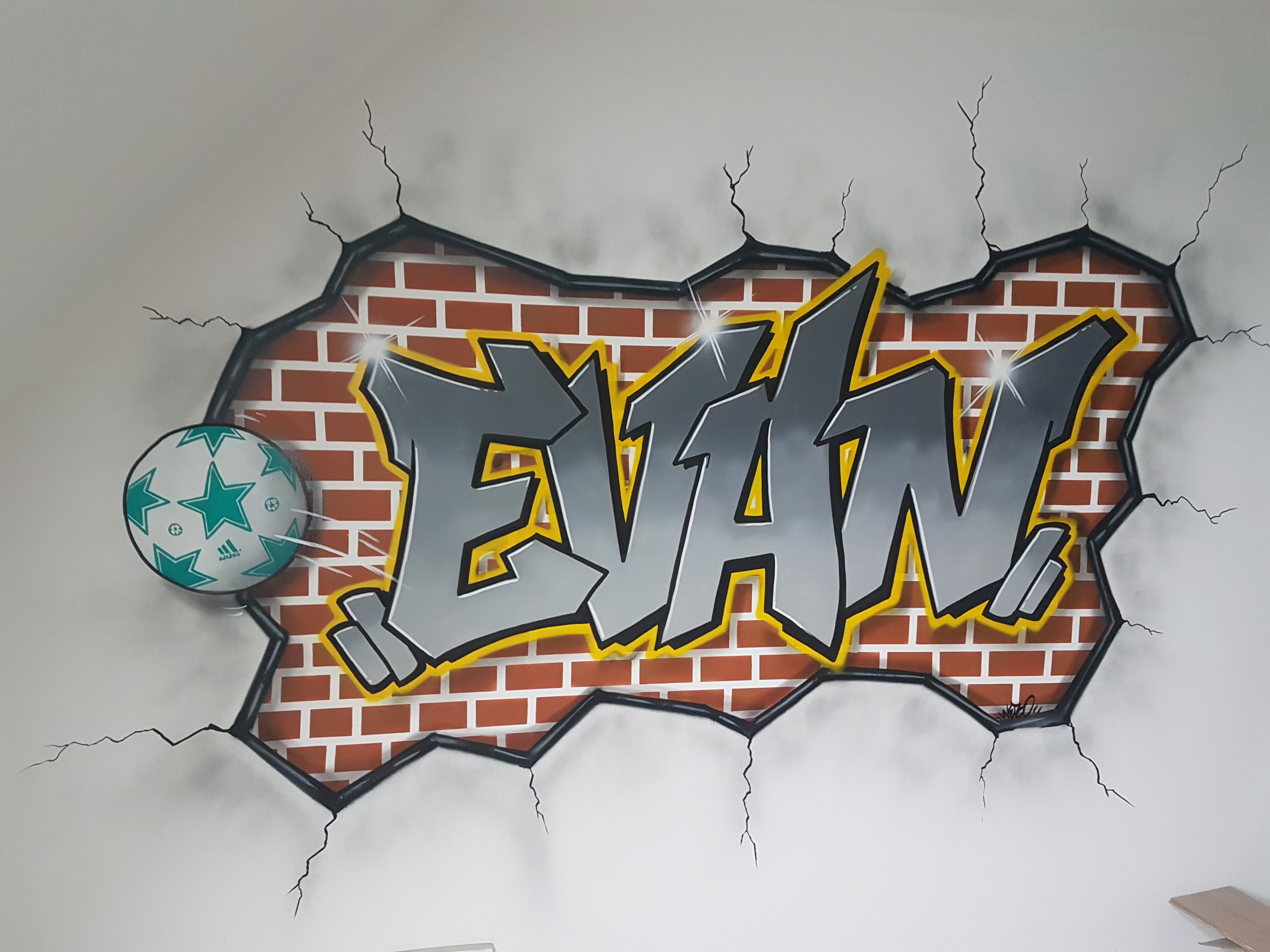 Peinture Tag Pour Chambre décoration graffiti chambre salon jardin graff fresque tag