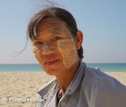 Burmese Lady Portrait -Ngapali Beach