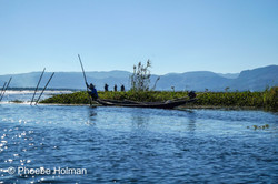 Locals fishing on Inle Lake