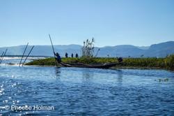Locals fishing on Inle Lake