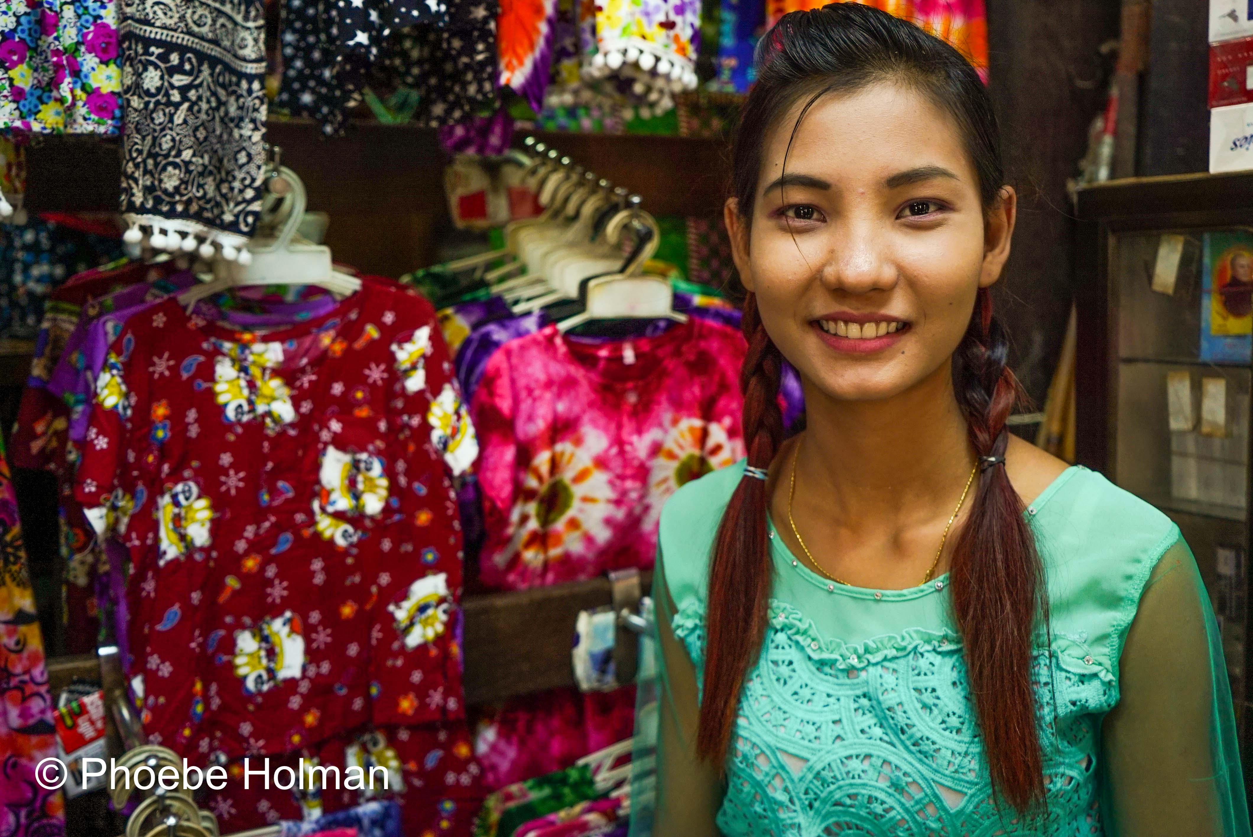 Burmese Portrait - Yangon Market