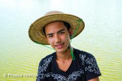 Burmese boy portrait - Snake Temple
