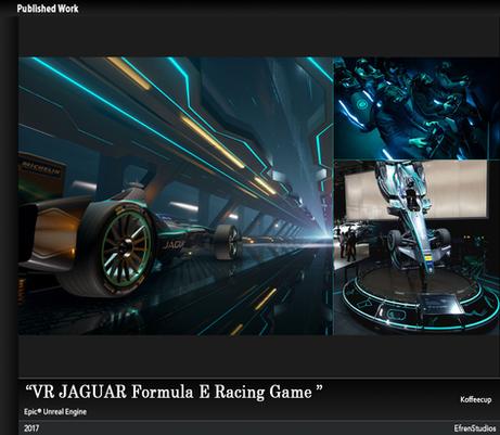 VR JAGUAR Formula E Racing Game