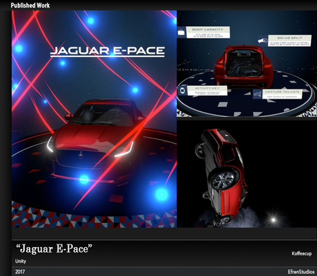Jaguar I-Pace Virtual Reality exhibition experience