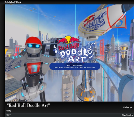 Red bull Doodle art Contest VR experience