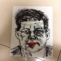 肯尼迪,布面油画,20x25cm