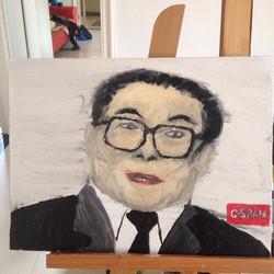 江泽民,布面油画,30x40cm