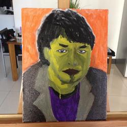 艺术家 艾未未,布面油画,30x40cm