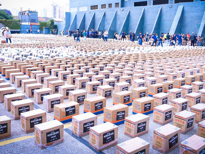 Renascer realiza mega distribuição de alimentos
