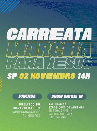 Marcha para Jesus promove Carreata Solidária