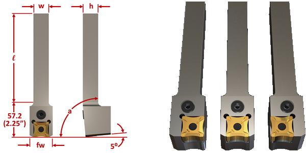 SNMG-15 SNMG-19 SNMG-25 OD SCARFING INSERT TOOL HOLDER