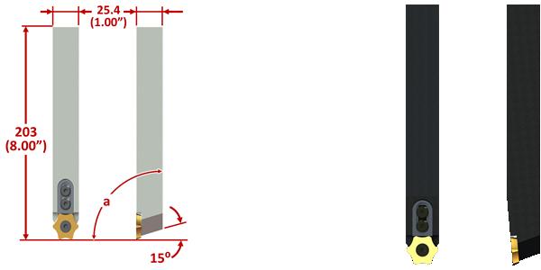 ROMX OD SCARFING INSERT TOOL HOLDER DIMS