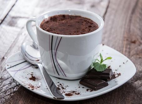 Chocolate com café quente