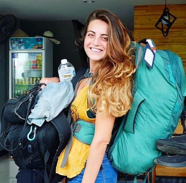 A photo of Emily Nagioff during her journey. Picture by: Emily Nagioff