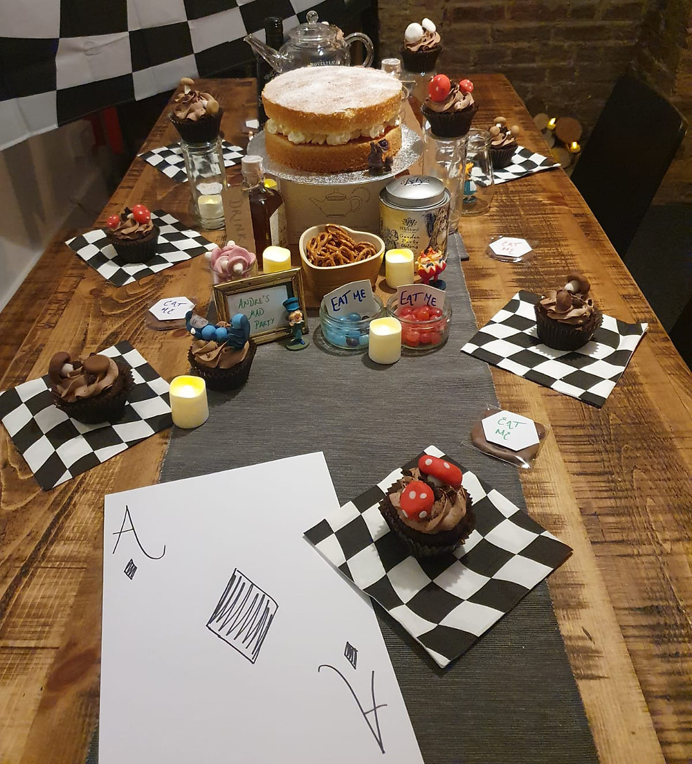 An 'Alice in Wonderland' themed dinner party. Pictures by: Lauren Harley