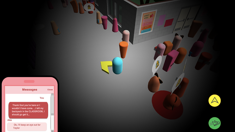 A screenshot from the game Personal Space.